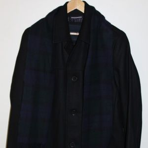 Tommy Hilfiger Men's Wool Walking Coat with Scarf